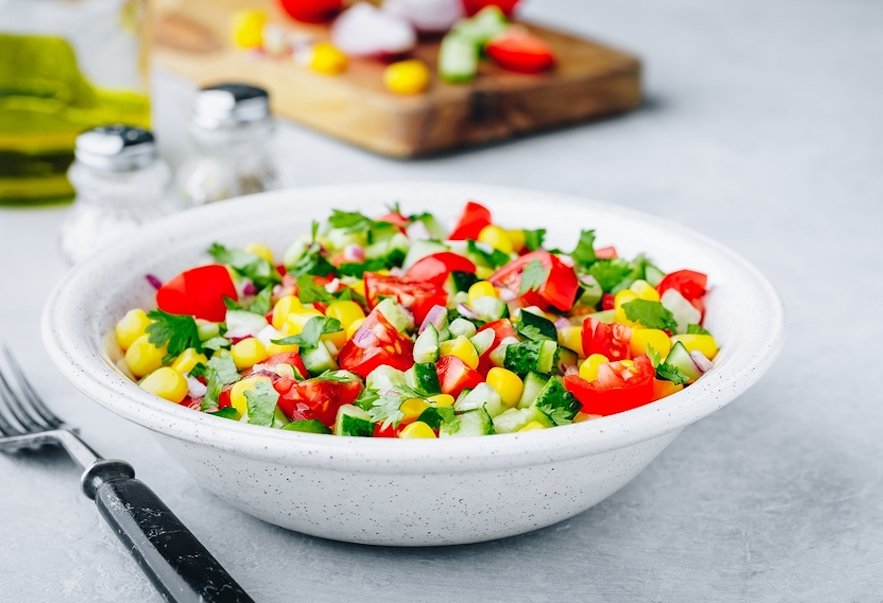 Fresh Summer Corn and Tomato Salad