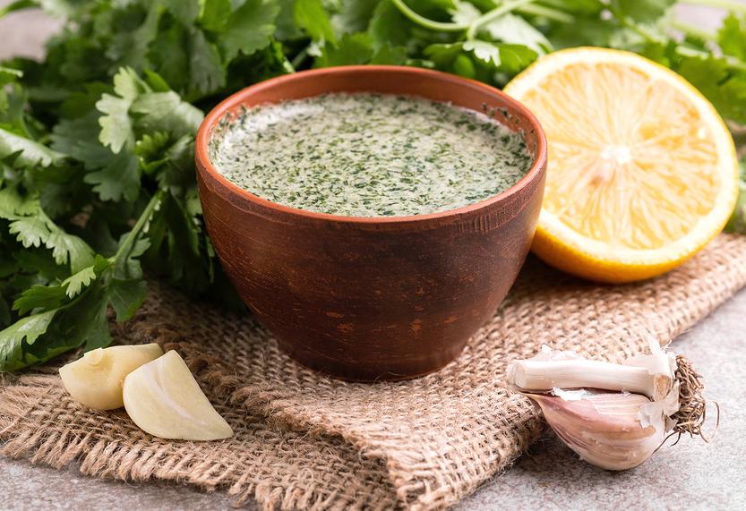 Green goddess salad dressing (parsley or cilantro)