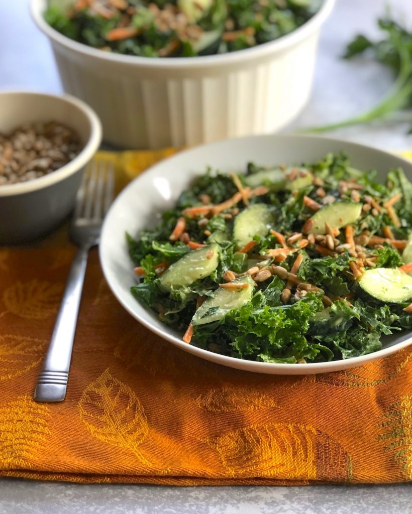 Kale and cucumber salad