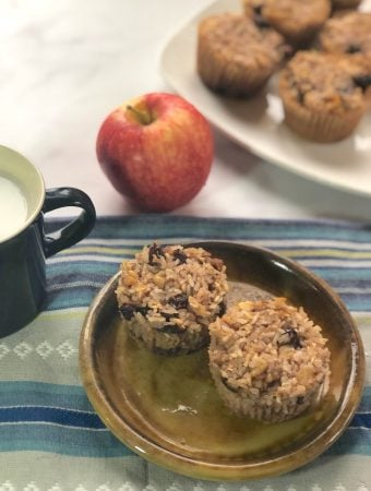 vegan pineapple rice pudding cups