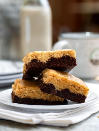Hannah Kaminsky's Vegan Black Bottom Blondies