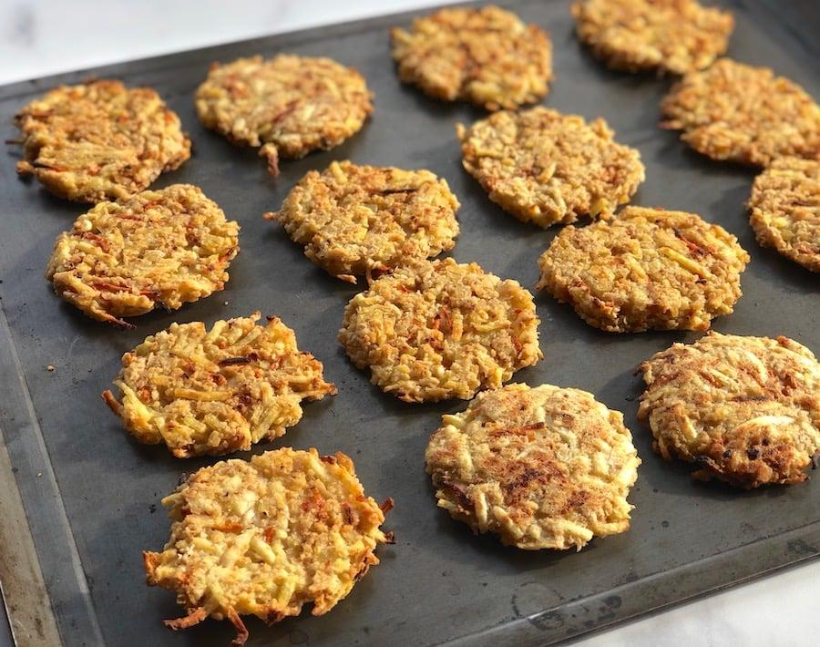 Easy vegan latkes - baked