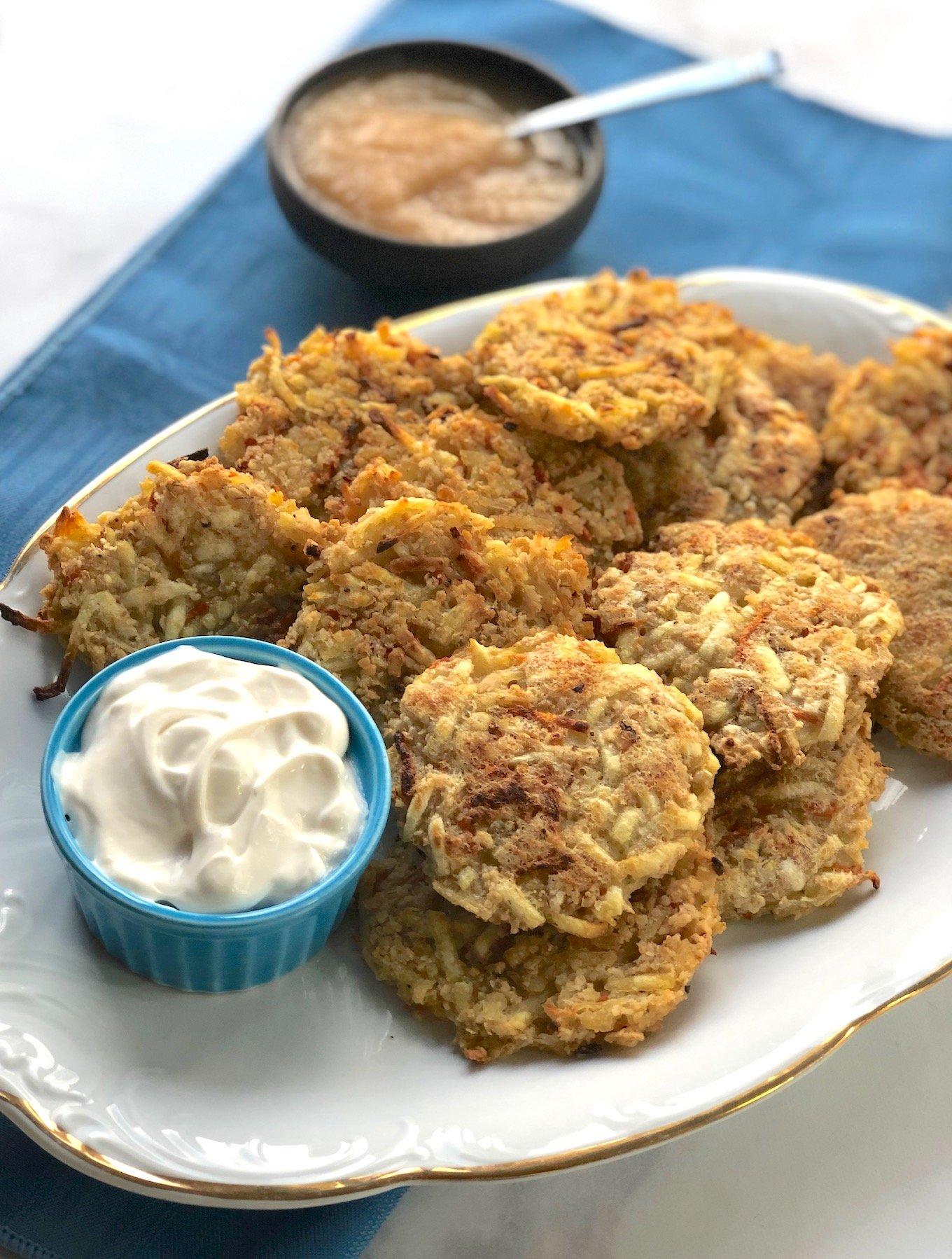 Easy baked vegan latkes