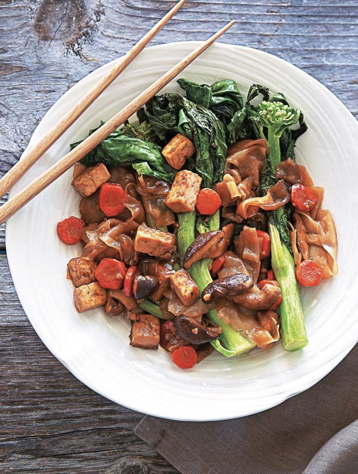Gluten-Free and Vegan Pad See Eew with Tofu