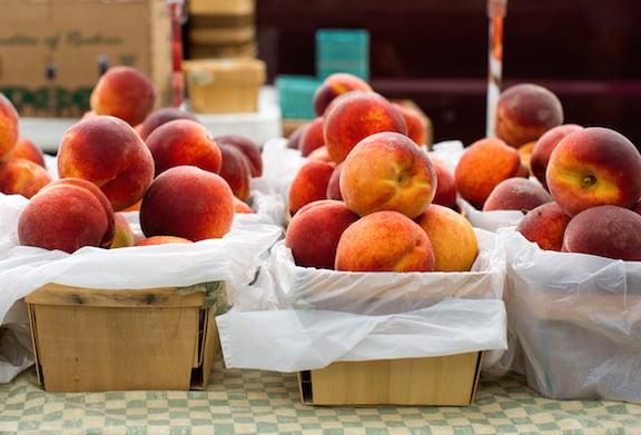 Peaches at Market