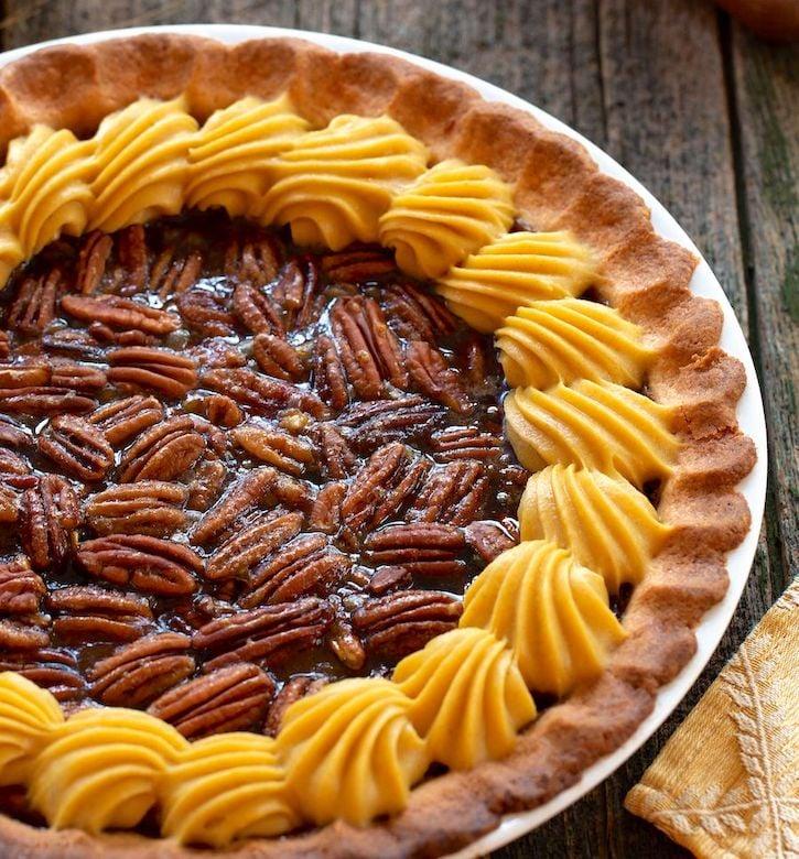 Pumpkin pecan pie by Hannah Kaminsky