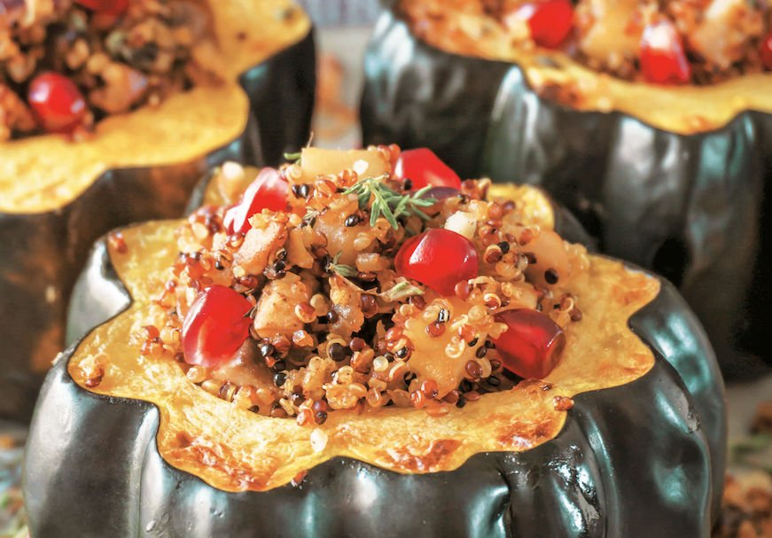 Roasted Acorn Squash with Quinoa Stuffing