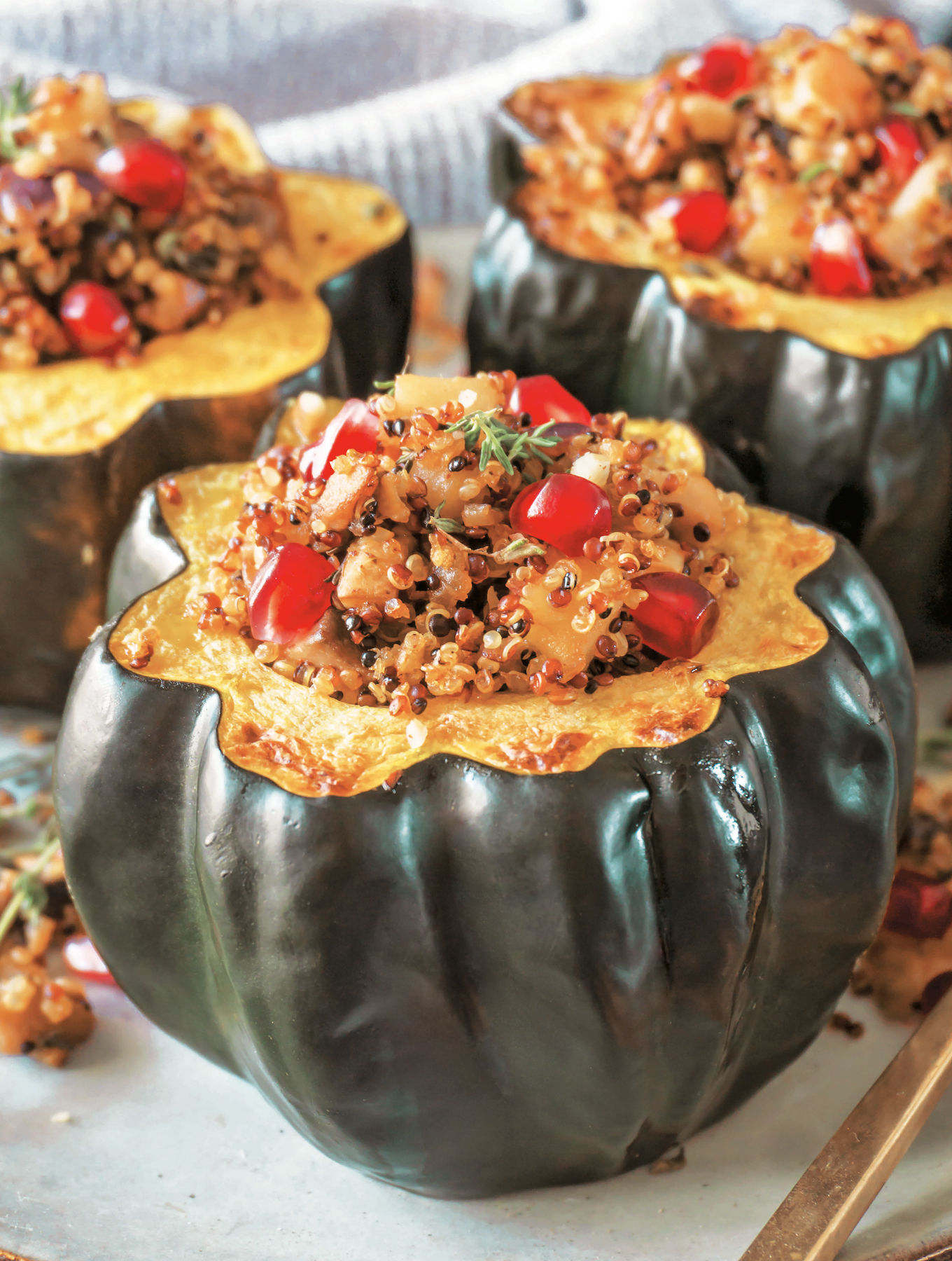 Roasted Acorn Squash with Quinoa Filling