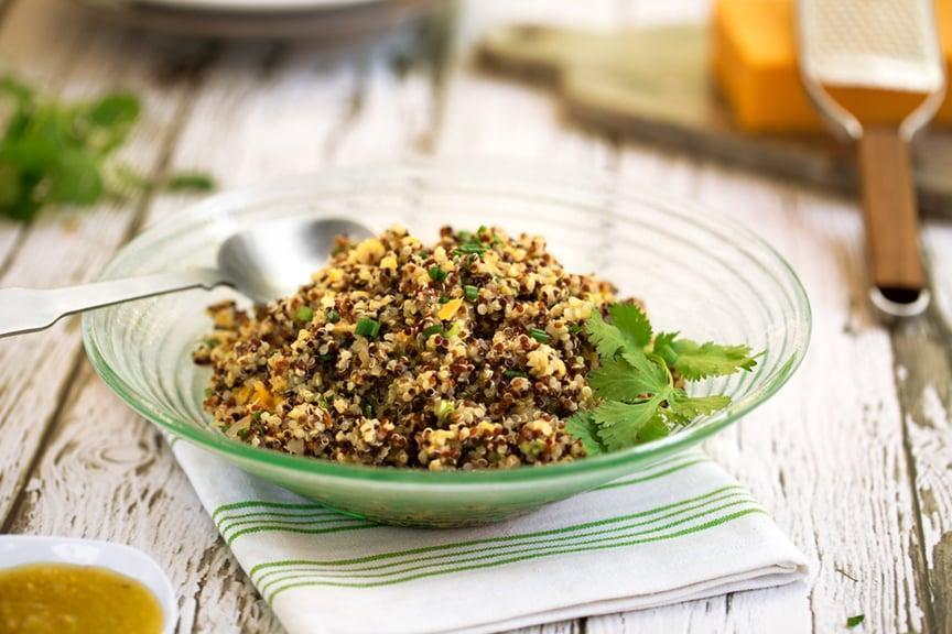 Quinoa Pilaf with Salsa Verde