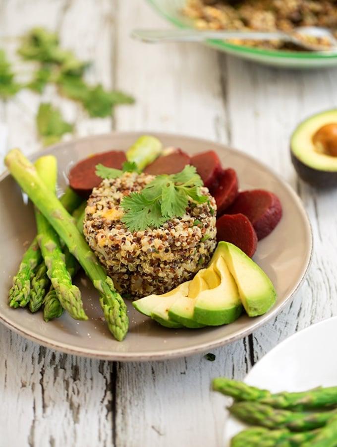 Salsa verde quinoa pilaf