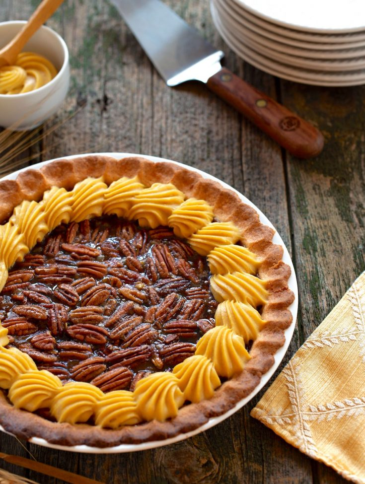 Vegan pumpkin pecan pie by Hannah Kaminsky