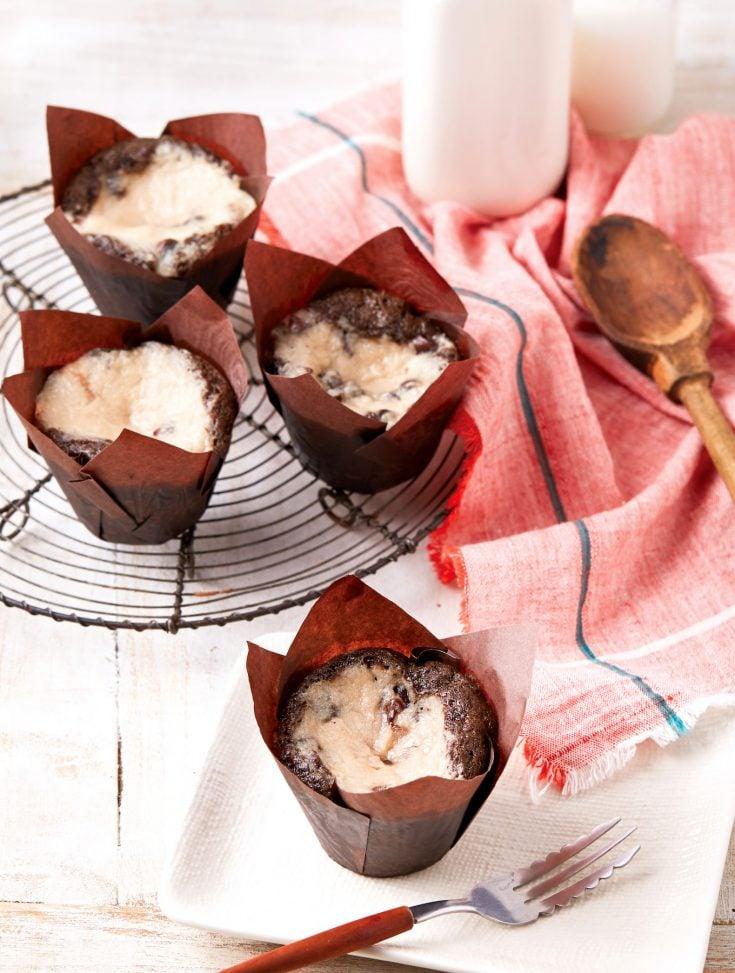 Vegan Black Bottom Cupcakes