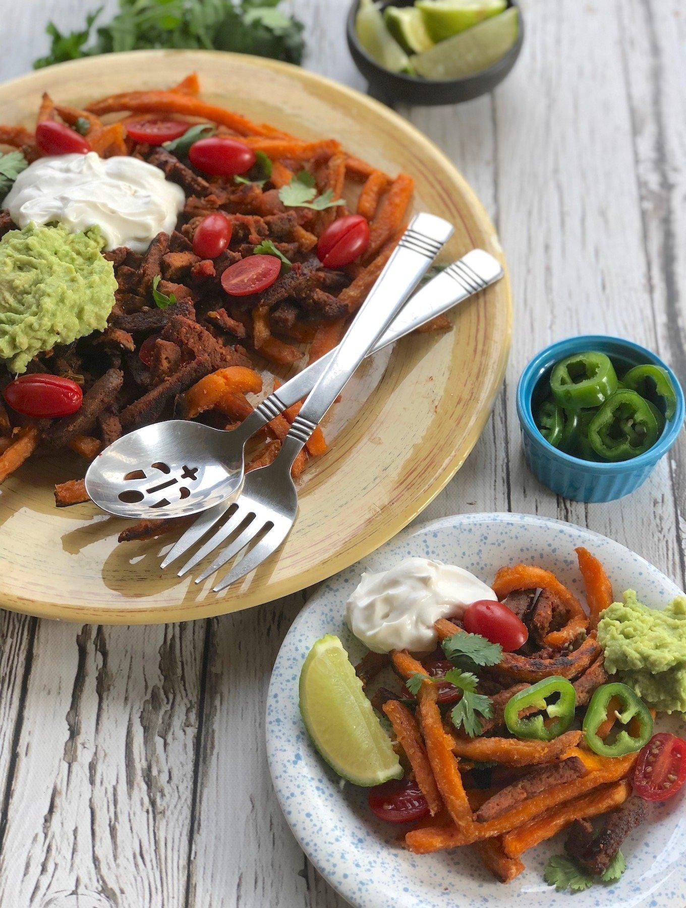 vegan Carne asada fries recipe