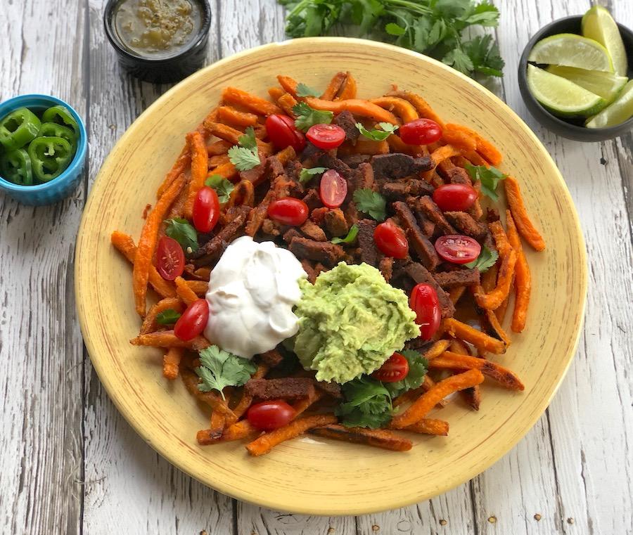 How to make vegan carne asada fries