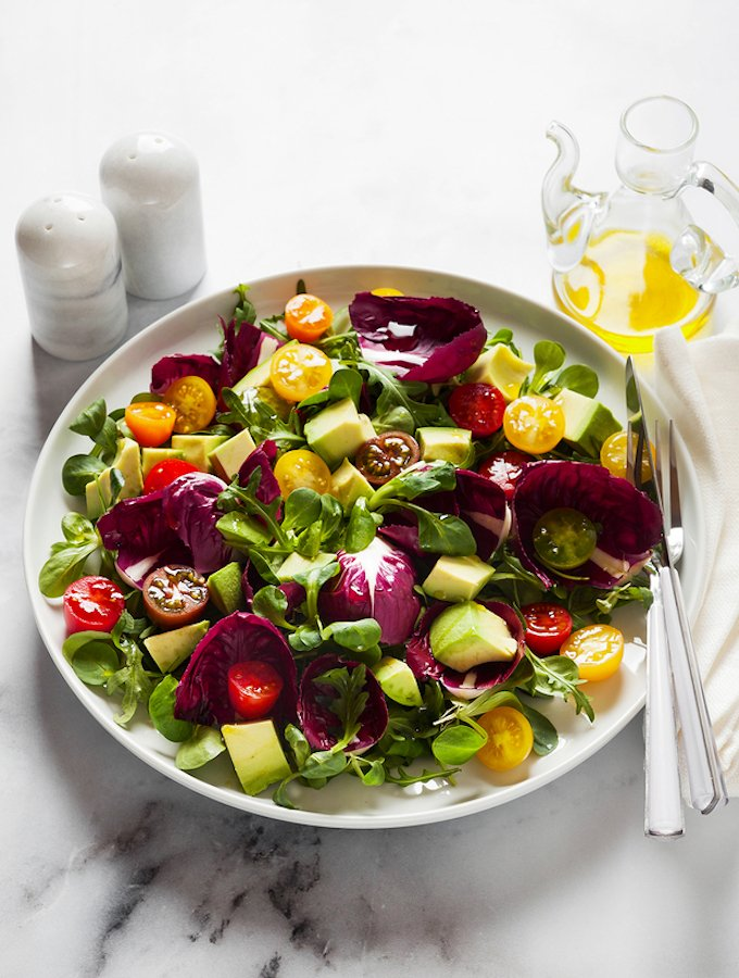 Avocado and Radicchio Salad