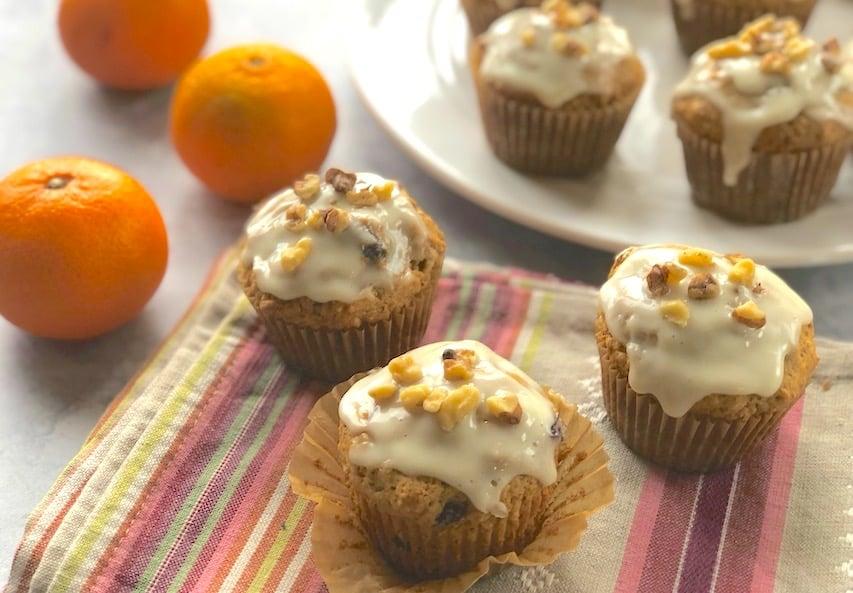Vegan Cranberry-Orange muffins