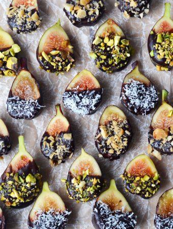 Raw Chocolate Dipped Figs