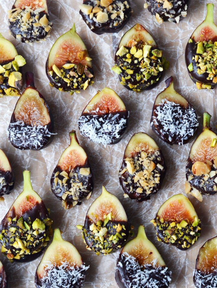 No-Bake Chocolate-Dipped Figs