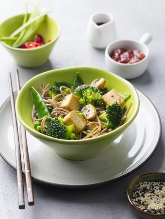 Stir-Fried Soba Noodles With Vegetables and Tofu