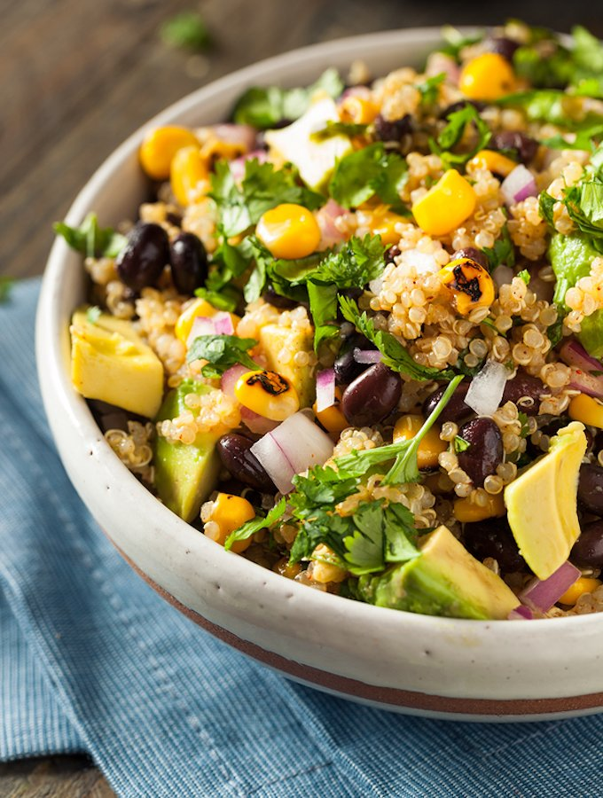 Southwestern Quinoa Salad with black beans and corn