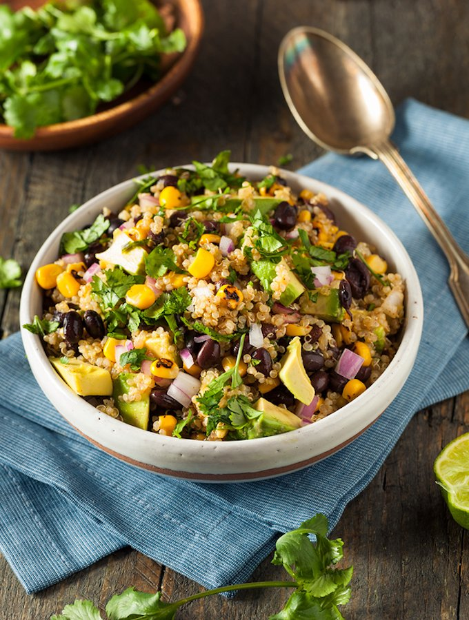 Southwestern Quinoa Salad with Avocado, Corn, and Black Beans