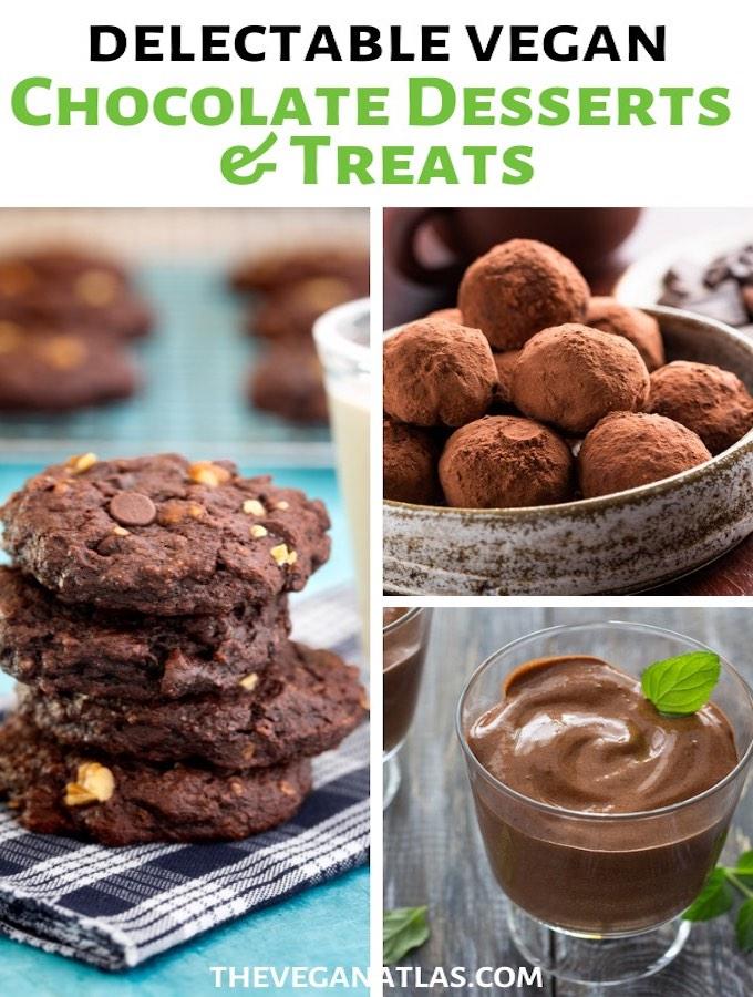 Vegan chocolate desserts graphic