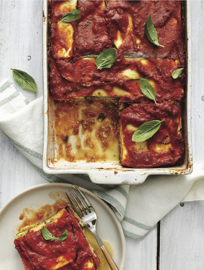 Vegan vegetable lasagna without noodles