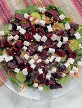 Vegan Feta and Beet Salad