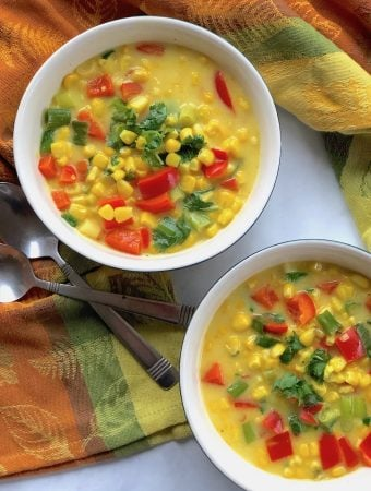 Vegan Thai Coconut Corn Soup