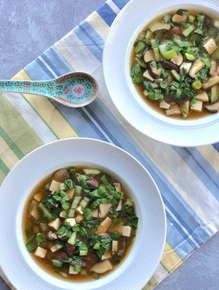 Gingery Miso mushroom soup1