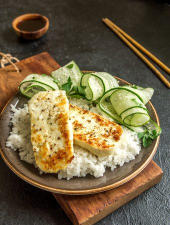 Lemon Pepper Tofu Steak