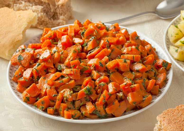 Traditional Moroccan carrots side dish