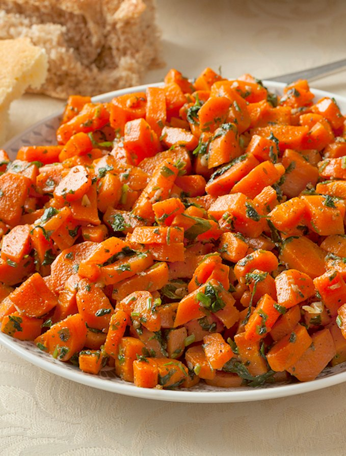 Moroccan carrots with parsley and lemon