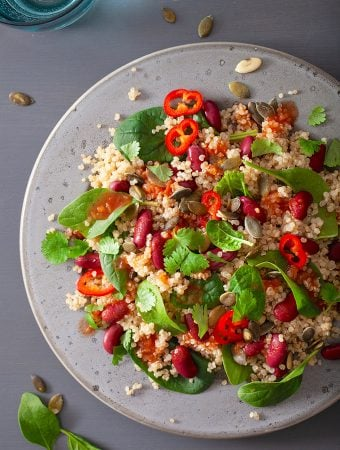 Quinoa and Red Bean Salad with Mini Sweet Peppers
