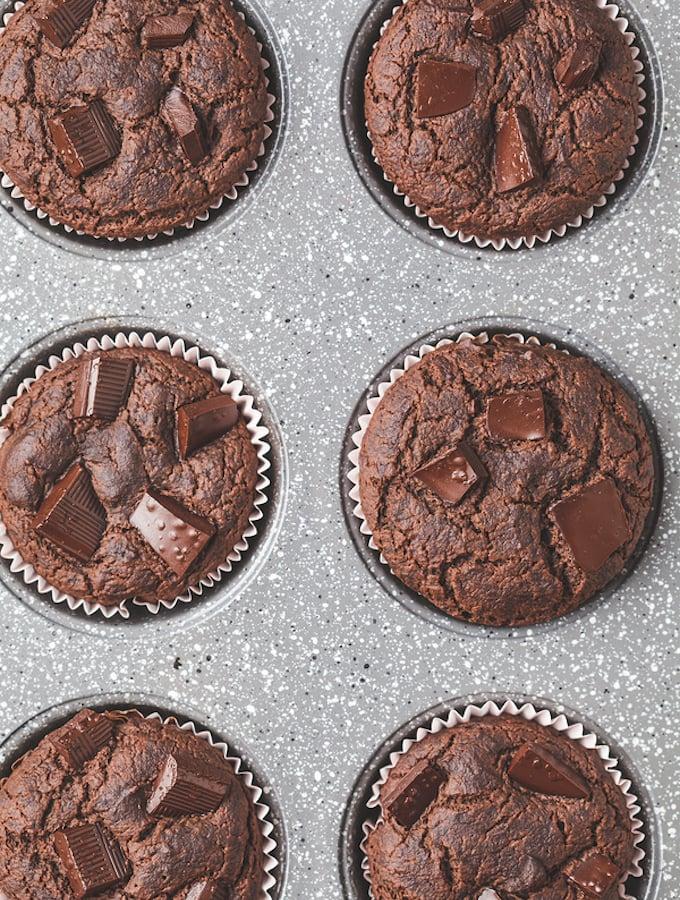 Vegan Chocolate Chunk Muffins