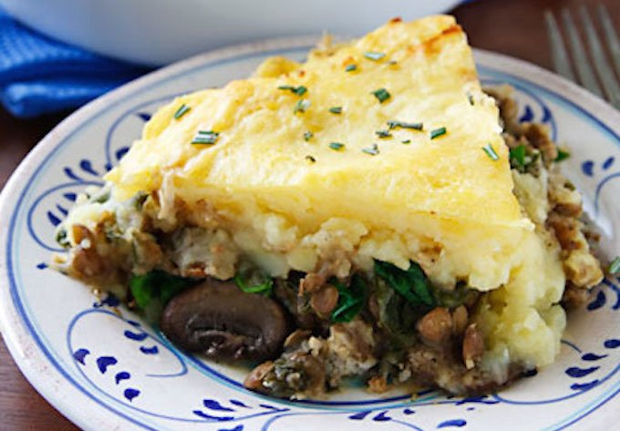 Vegan Shepherd's pie from Vegan Holiday Kitchen