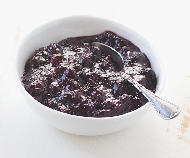 Blueberry Mint Chia Jam