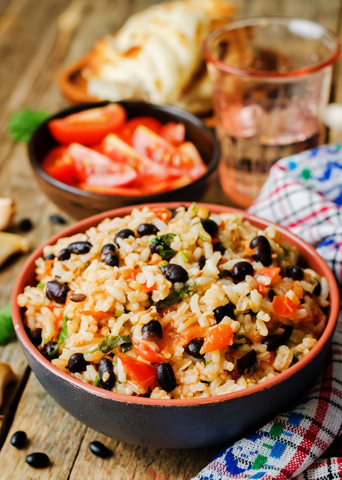Cuban Black beans and rice - moros y christianos