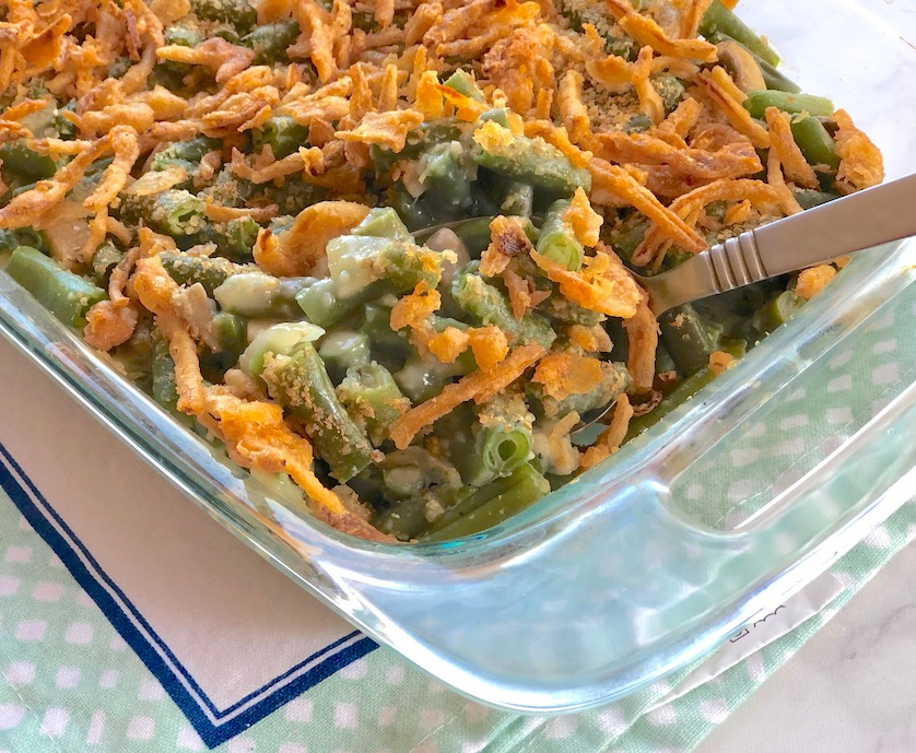 veganized green bean casserole