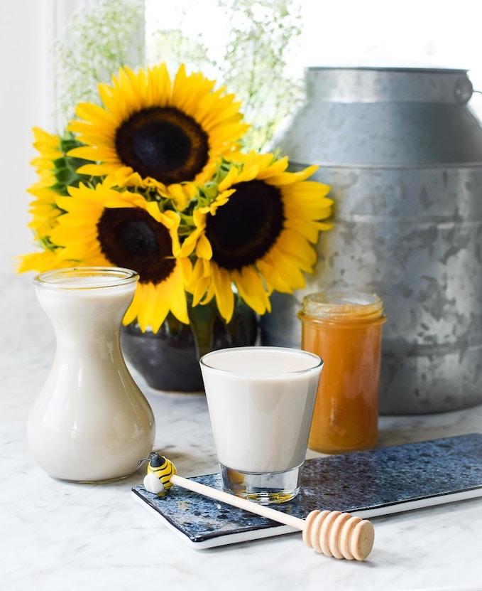 Homemade Sunflower Seed-Milk