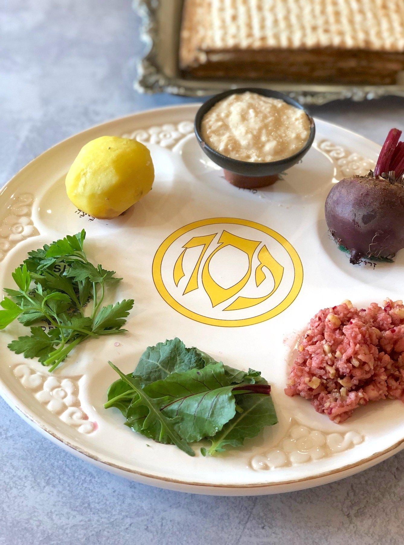 Vegan Passover plate