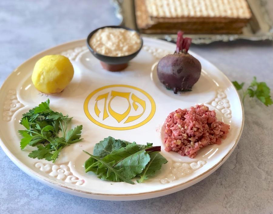 Plant-based (vegan) Passover plate