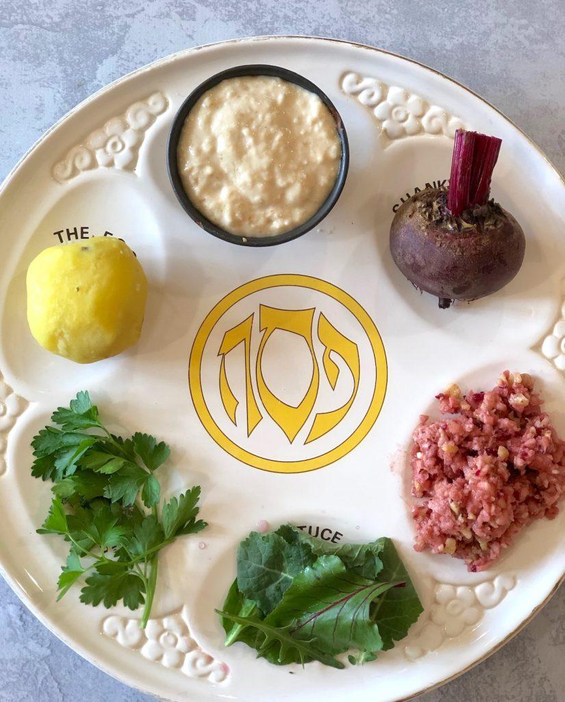 Vegan Passover seder plate
