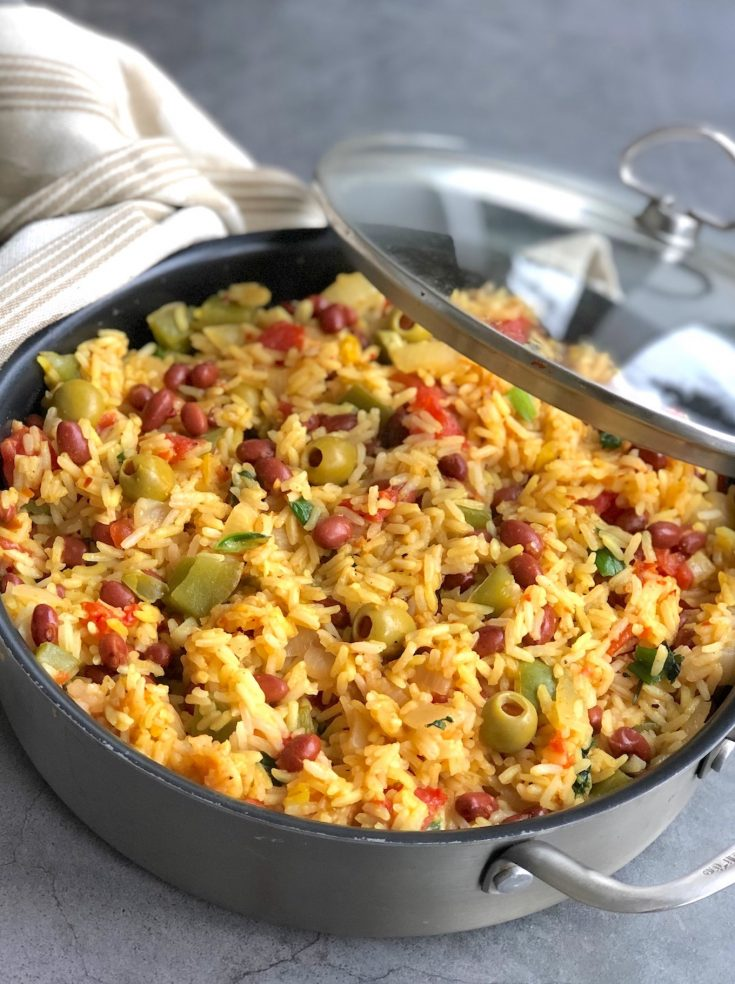 Spanish Rice And Beans With Pimiento Olives The Vegan Atlas