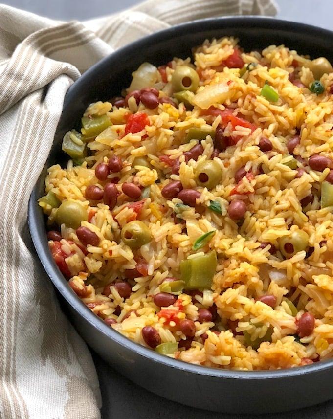 Vegan Spanish Rice and Red Beans recipe