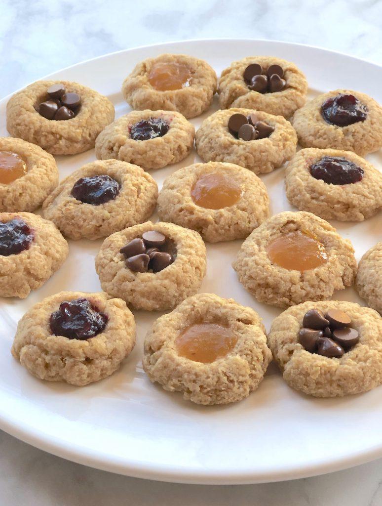 Vegan Jam Thumbprint cookies