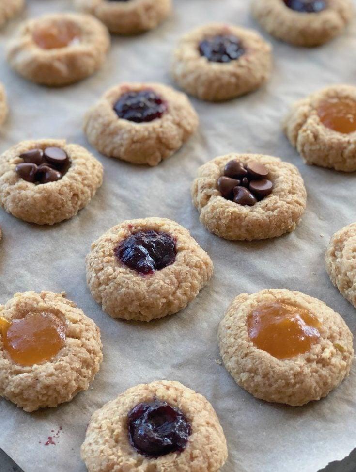 Lime Vegan Thumbprint cookies