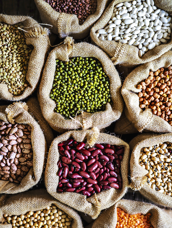 Varieties of beans and legumes
