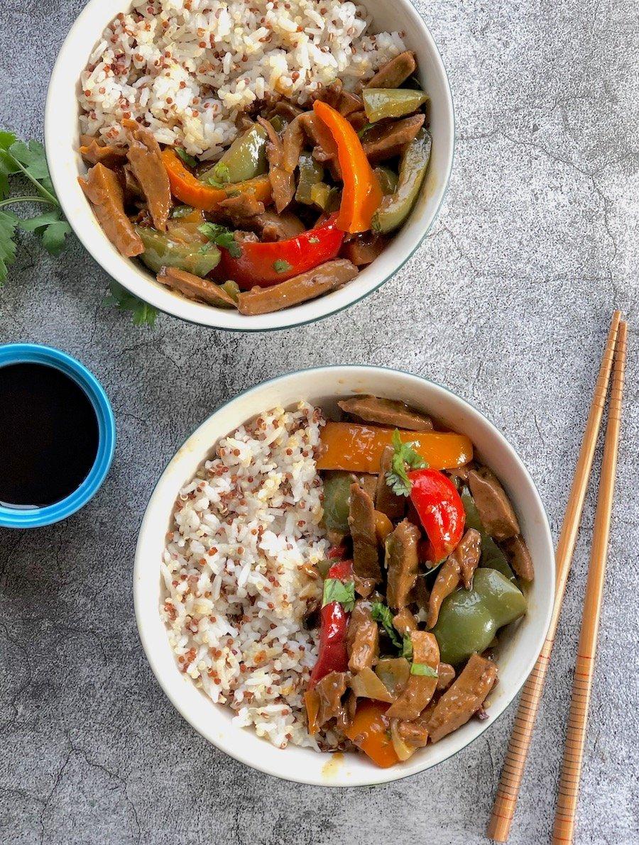 Vegan Pepper Steak recipe