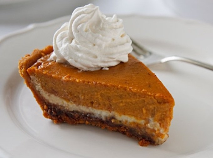pumpkin or butternut squash cheesecake with coconut whip